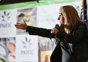 Reading Eagle: Susan L. Angstadt | Rocker and activist Melissa Etheridge was the surprise guest speaker at Tuesday's announcement of hemp and medical marijuana production at the DoubleTree by Hilton hotel.